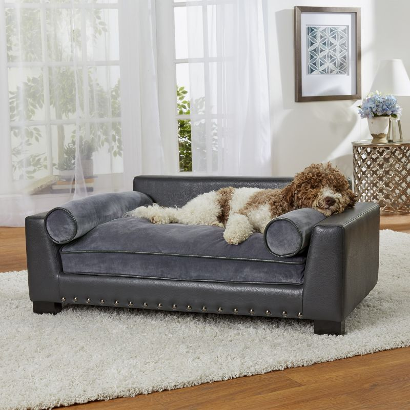 Enchanted Home Pet Skylar Dark Grey Sofa Dog Bed   Dog.com