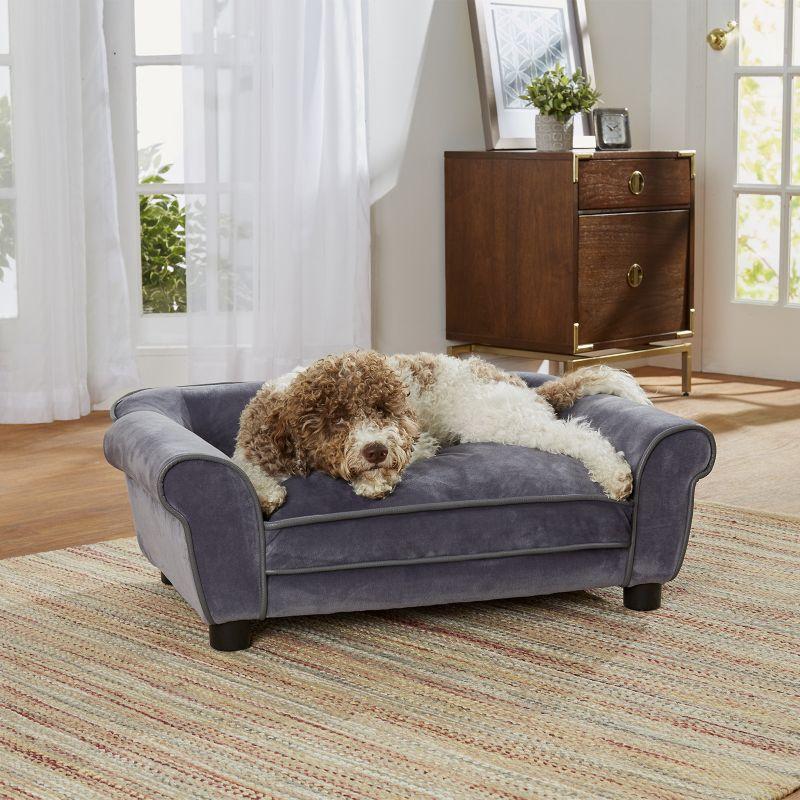 Delightful Enchanted Home Pet Dreamcatcher Grey Sofa Dog Bed