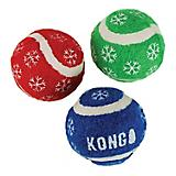 KONG Holiday Tennis Balls w/Bells 3 Pack Cat Toy
