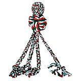KONG Holiday Wubba Weave w/Rope Dog Toy