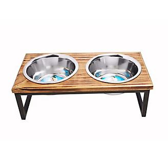 Luxe Craft Contemporary Wooden Dog Diner