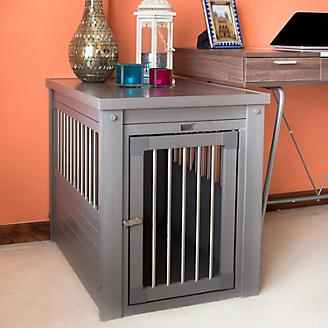 New Age Pet Grey Dog Crate w/Metal Spindles
