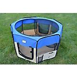 Armarkat Blue/Beige Portable Pet Playpen