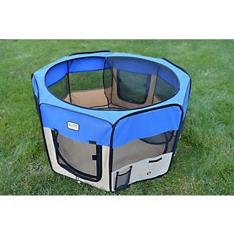 Armarkat Blue/Beige Portable Pet Playpen