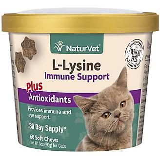NaturVet L Lysine Immune Cat Soft Chew 60ct