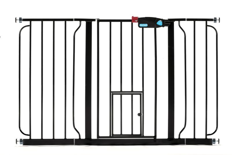 Carlson Pet Black Extra Wide Gate w/Pet Door -  CARLSON PET PRODUCTS,INC., 0932 PB DS