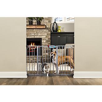Carlson Pet Platinum Extra Wide Gate w/Pet Door
