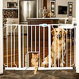 Carlson Pet White Extra Wide Gate with Pet Door