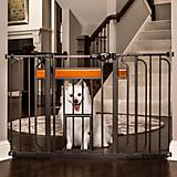 Carlson Pet Design Paw Extra Wide Gate w/ Pet Door