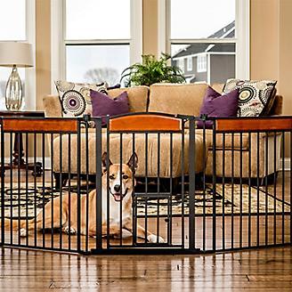 Carlson Pet Deluxe Paw Flexi Gate w/ Pet Door