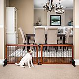 Carlson Pet Freestanding Extra Wide Wood Pet Gate