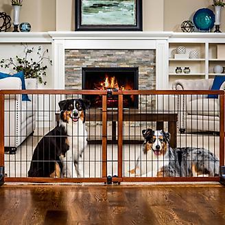 Carlson Pet Freestanding Extra Tall Wood Pet Gate