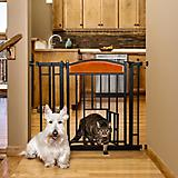Carlson Pet Design Paw Auto Close Gate w/ Pet Door