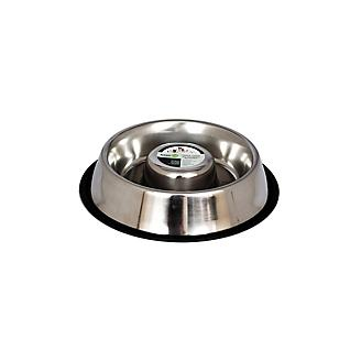 Slow Feed Stainless Steel Pet Bowl 2 Pack