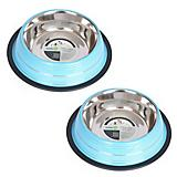 Color Splash NonSkid Pet Bowl 2 Pack
