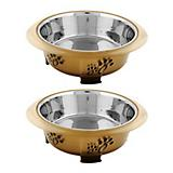 Color Splash Oval Fusion Bowl 2 Pack