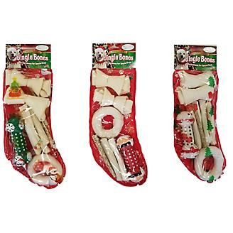 Holiday Rawhide Stocking Dog Treat