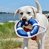 Baydog Fetch Ring Dog Toy White