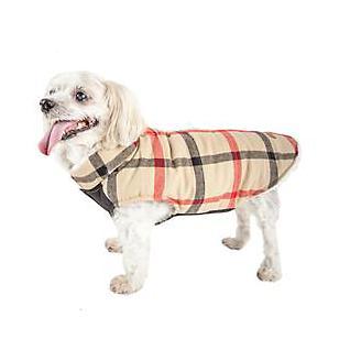 Pet Life Allegiance Plaid Dog Coat