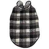 Pet Life Black Boxer Plaid Dog Coat
