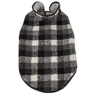 Pet Life Black Boxer Plaid Dog Coat