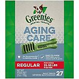 Greenies Aging Care Dental Chew Treat Regular 27oz
