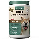 NaturVet Hemp Aches/Discomfort Dog Soft Chews 60ct