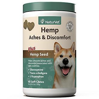 NaturVet Hemp Aches/Discomfort Dog Soft Chews 60ct