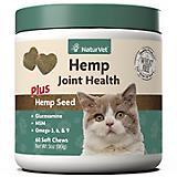 NaturVet Hemp Joint Health Cat Soft Chews 60ct
