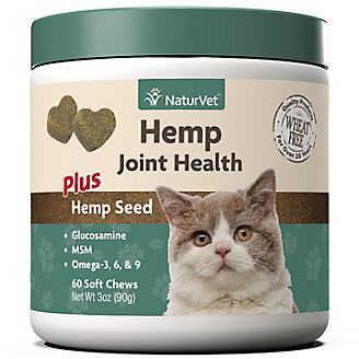 NaturVet Hemp Joint Health Cat Soft Chews 60ct