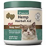 NaturVet Hemp Hairball Aid Cat Soft Chews 60ct