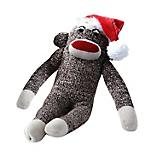 Sock Monkey Holiday Dog Toy 10 Inch
