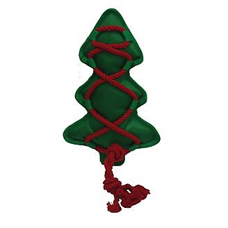 Cross Ropes Holiday Christmas Tree Dog Toy 12in