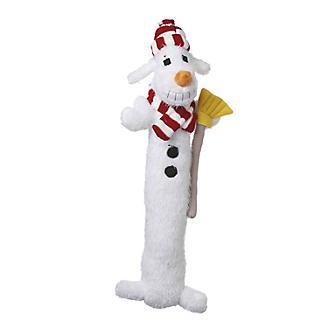 Loofa Dog Holiday Snowman Dog Toy 12in