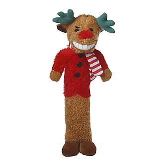 Loofa Dog Holiday Reindeer Dog Toy 12in