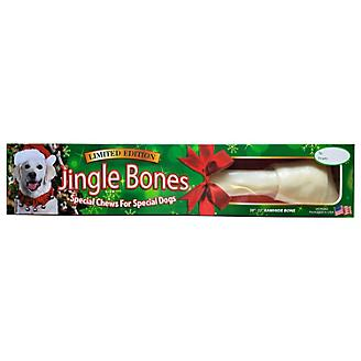 Holiday Rawhide Jingle Large Dog Bone 20-22in Box