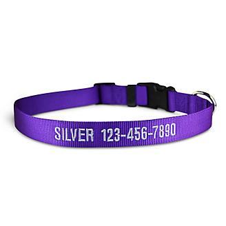 Personalized Purple Nylon Dog Collar