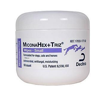 Miconahex Plus Triz Wipes 50 Count Jar