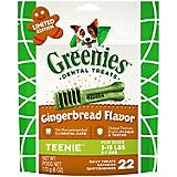GREENIES Gingerbread Teenie Dog Chew 6oz