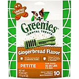 GREENIES Gingerbread Petite Dog Chew 6oz