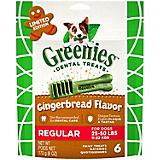 GREENIES Gingerbread Regular Dog Chew 6oz