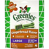 GREENIES Gingerbread Large Dog Chew 6oz