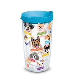 Tervis Flat Art Dog Breeds Tumbler 16oz - KVSupply com