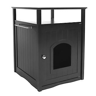 Merry Products Cat Washroom Night Stand Black