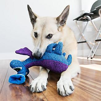 KONG Woozles Blue Medium Dog Toy