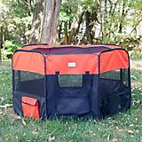 Armarkat Black/Red Portable Pet Playpen