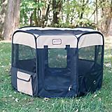 Armarkat Black/Beige Portable Pet Playpen