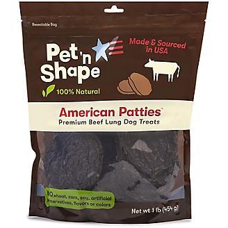Pet n Shape American Patties Beef Lung Dog Treat