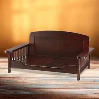 Richell Dark Brown Elegant Wooden Pet Bed