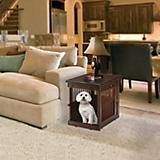 Richell Dark Brown Wooden End Table Crate